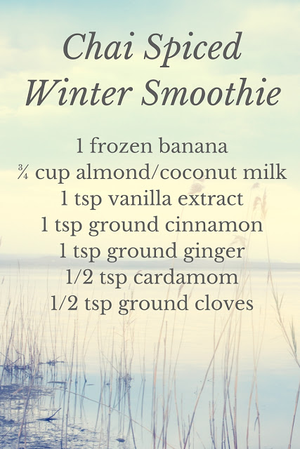 Chai Spiced Smoothie for Winter