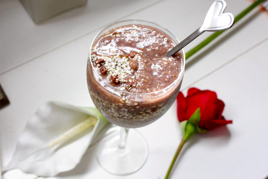 Berry Chia Pudding.