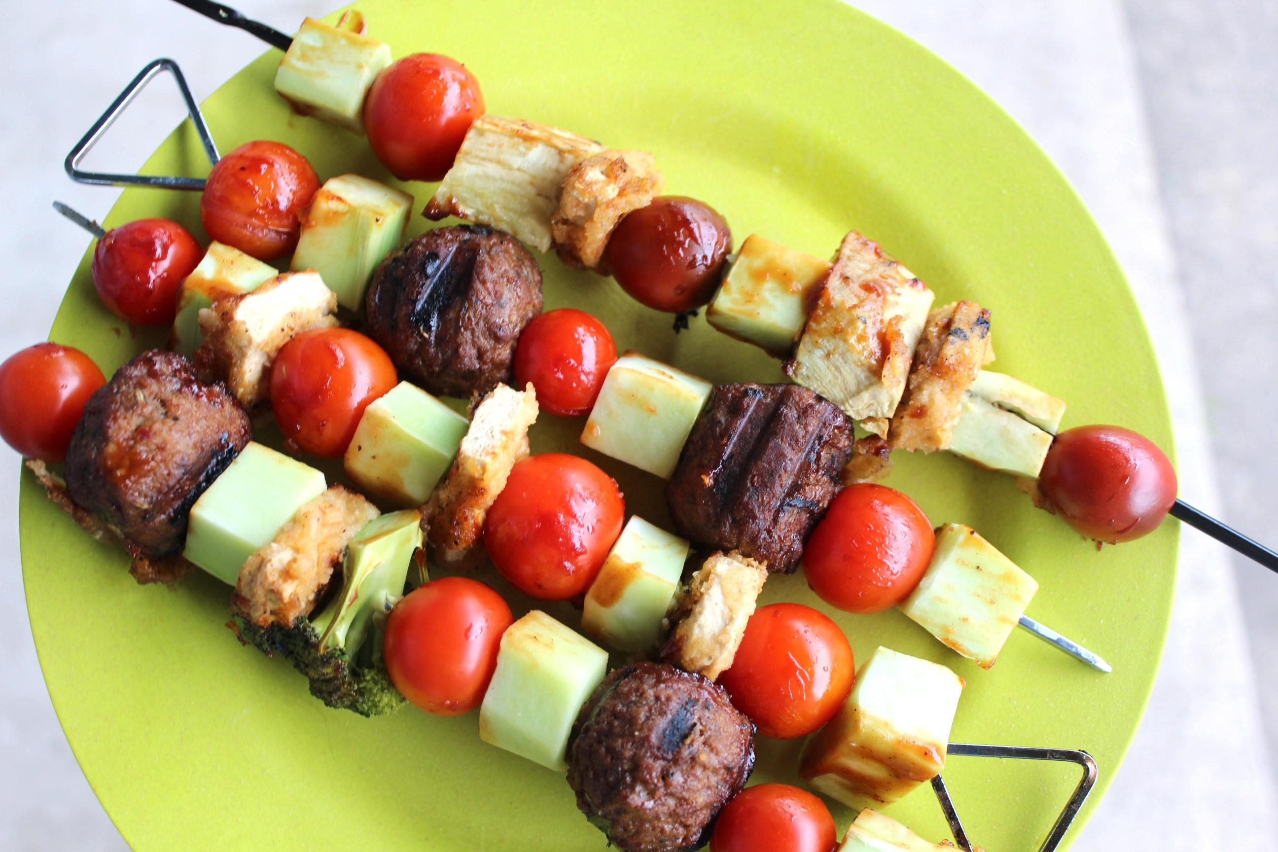 vegan kebabs gardein