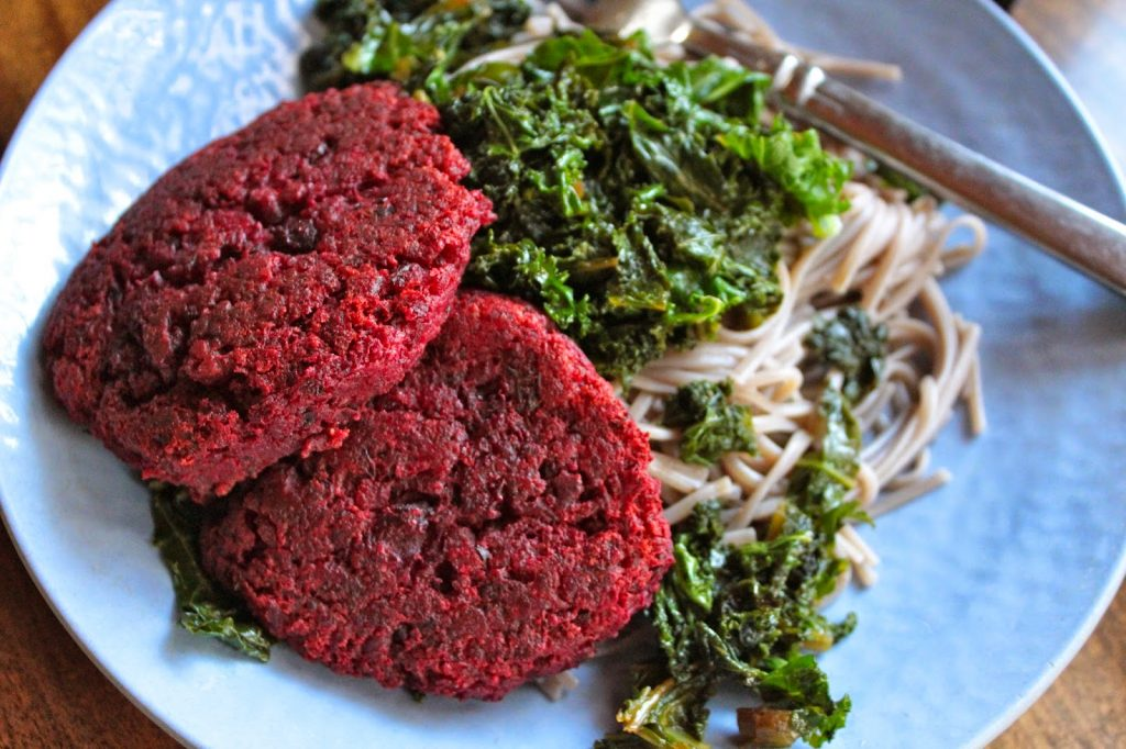 vegan beet patties